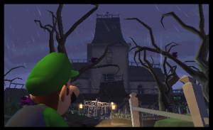 Luigi's Mansion Dark Moon mansion entry