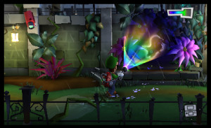 Luigi's Mansion Dark Moon plant mansion