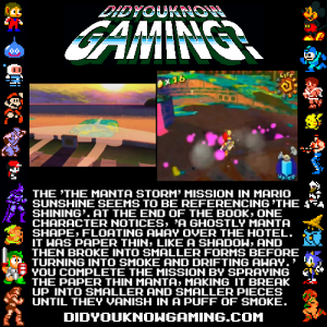 Did You Know Gaming The Shining and Mario Sunshine