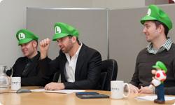 Next Level Games plus Luigi Hats