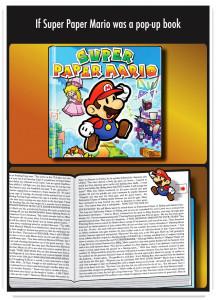 Super Paper Mario text
