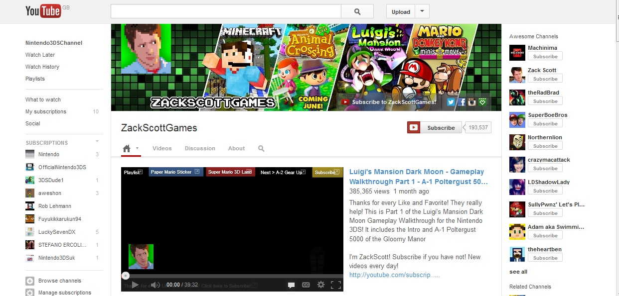 Nintendo claims ad revenue on all Youtube videos with