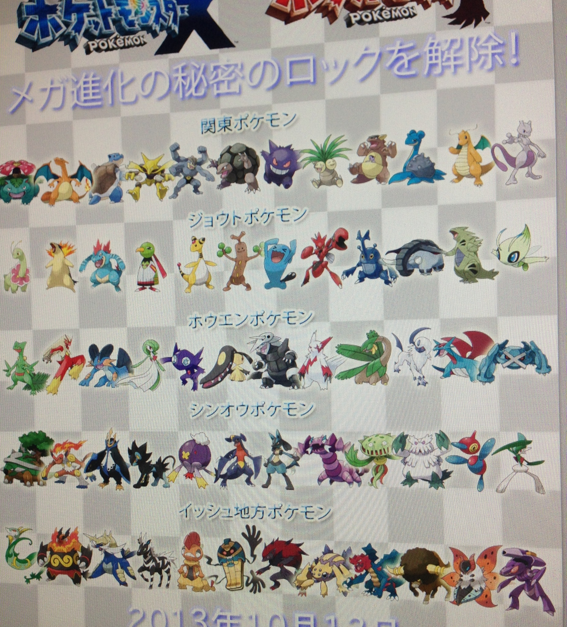 is this a list of all pokemon x and y mega evolutions gaming