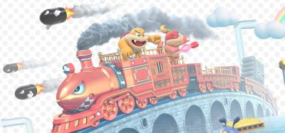 Above: Boom Boom and Pom Pom show up on the Bullet Bill Train.