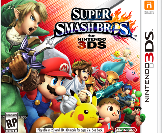 Super Smash Bros for 3DS Box Art