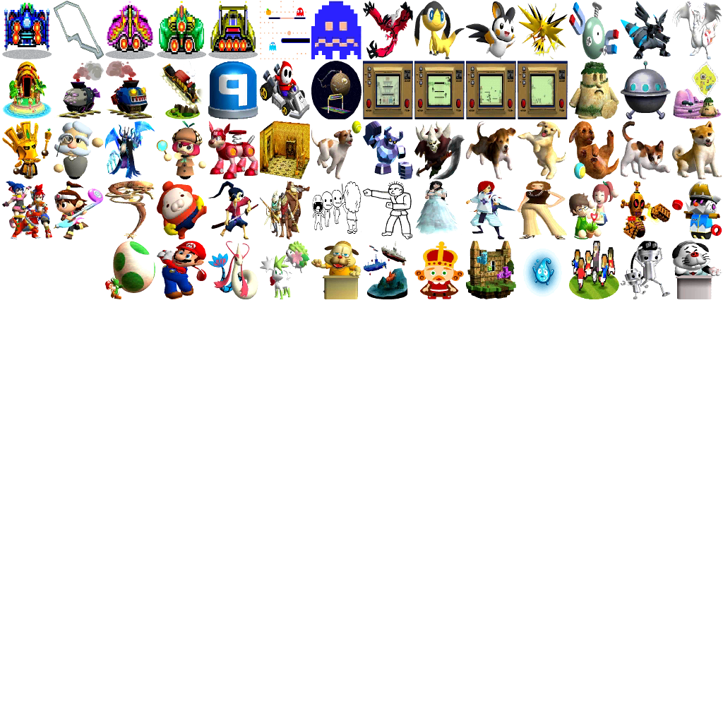 Super Smash Bros For 3DS; All Trophies