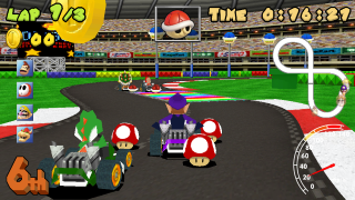 above making a 3d mario kart game in game maker was an extremely