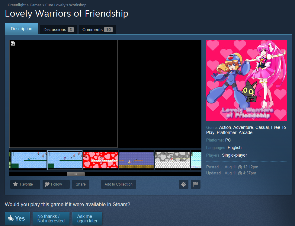 lovely warriors of friendshipgreenlight