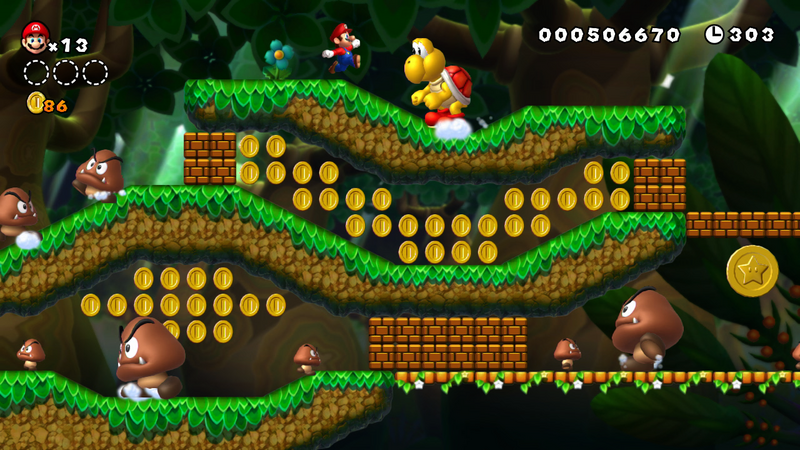 New Super Mario Bros slopes