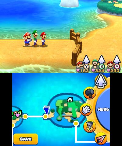 Mario & Luigi Paper Jam fence