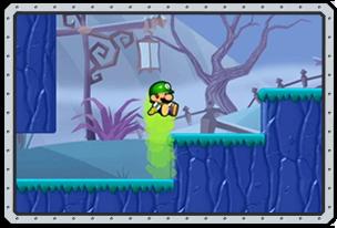 Luigi high jump