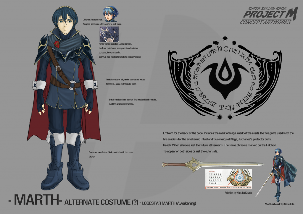 Marth Alt Design 0X - Awakening
