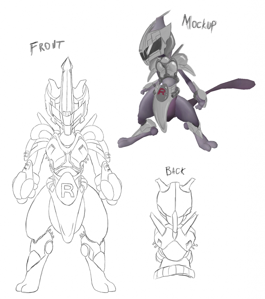 Old format - Mewtwo Design - Rocket Armor