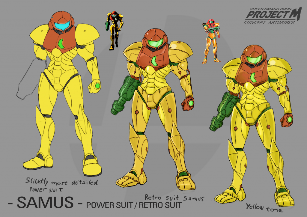 Samus Alt Design 01 - Power Suit (option sheet)