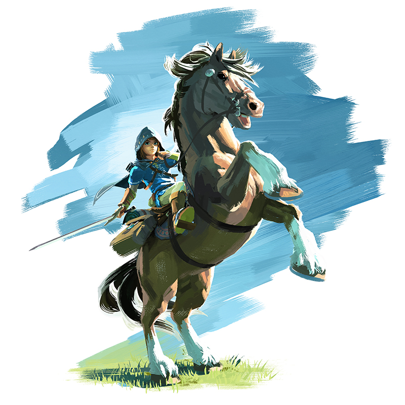Zelda U Horse Artwork