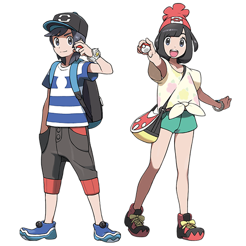 Pokemon Sun and Moon Player Characters