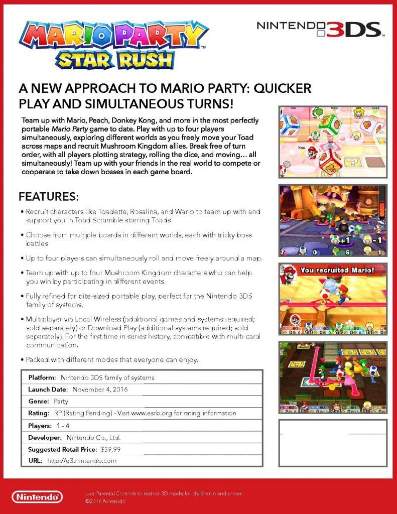 mario party fact sheet