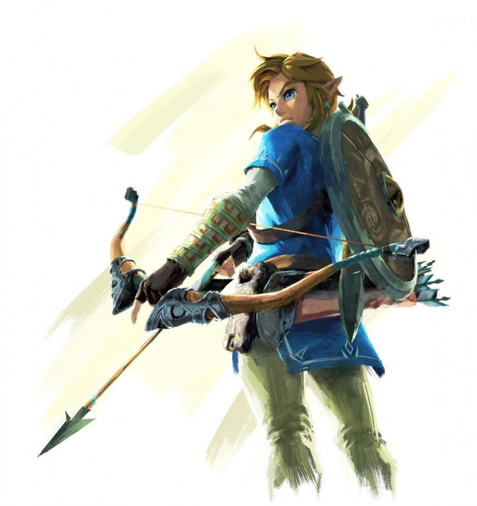Link with a bow and arrow