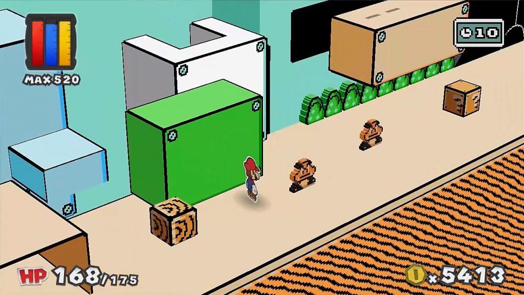 SMB3 in Super Paper Mario style