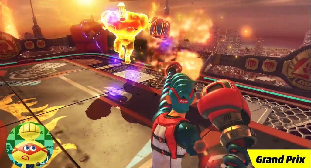 ARMS Final Boss fire powers