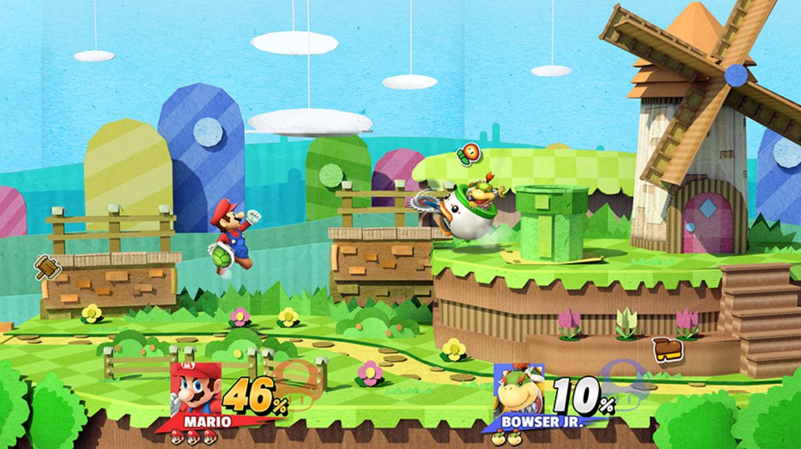Fake Mario vs Bowser Jr Image