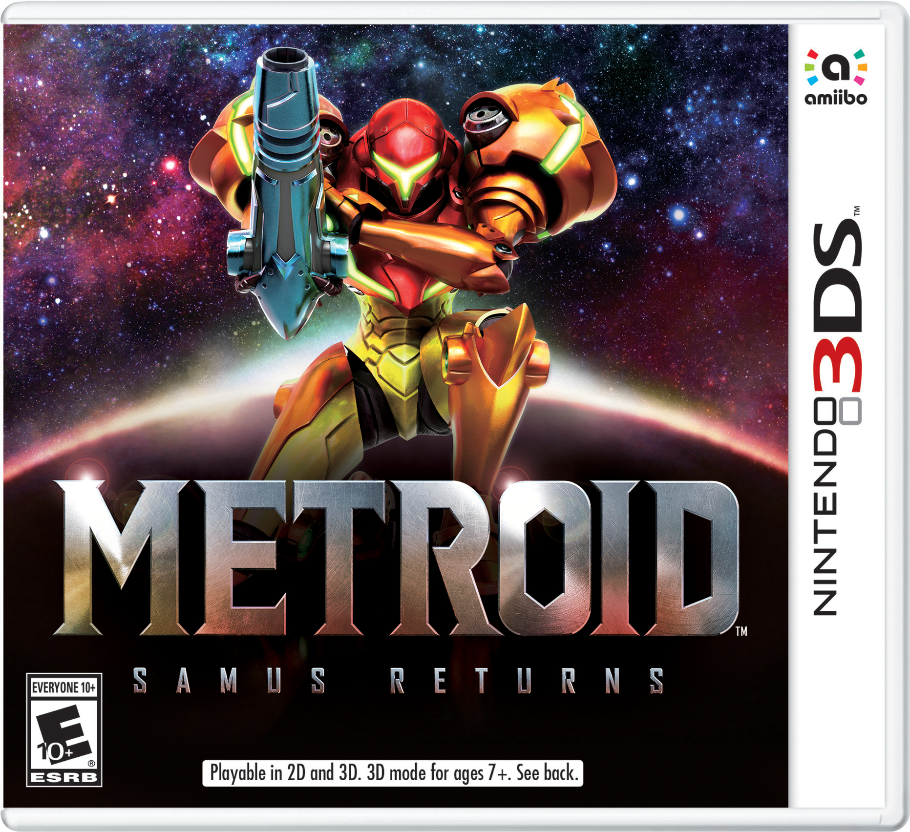 Metroid Samus Returns Box Art