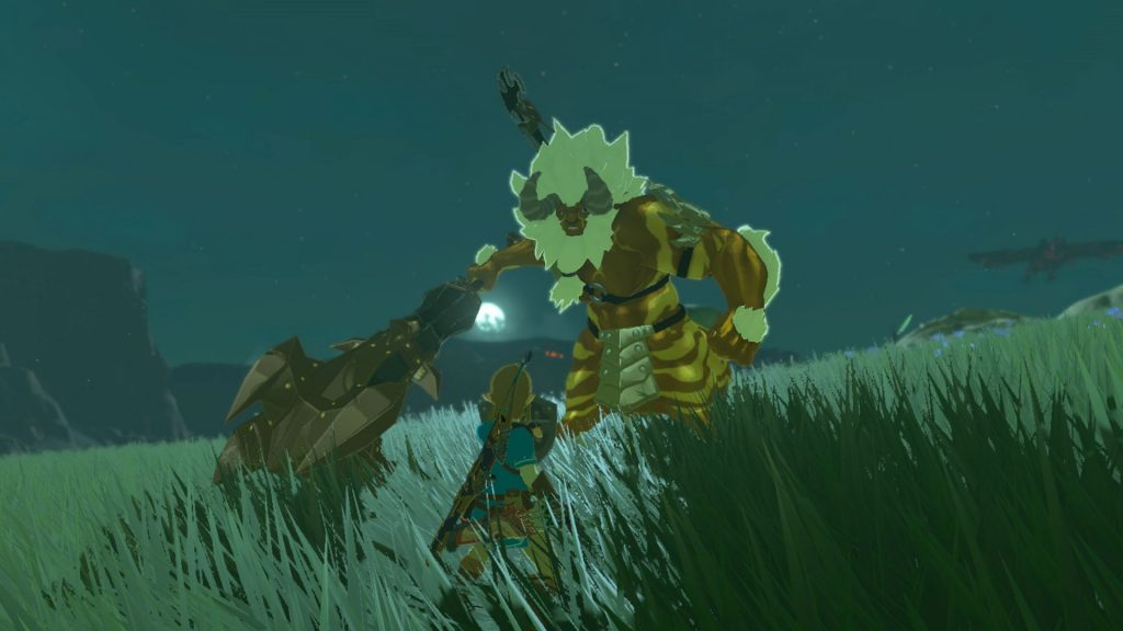 Fighting a Gold Lynel