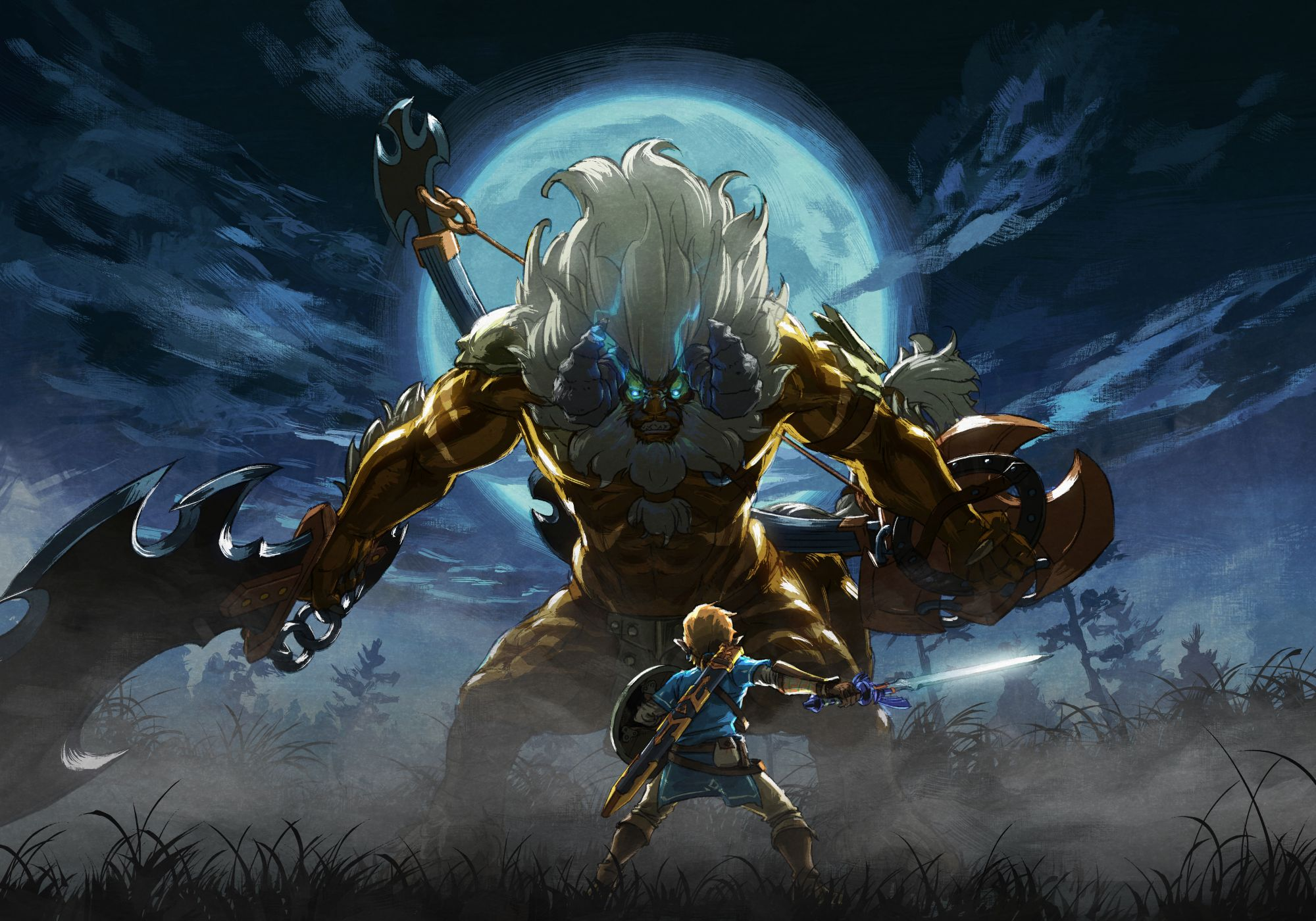 Link vs Gold Lynel Art