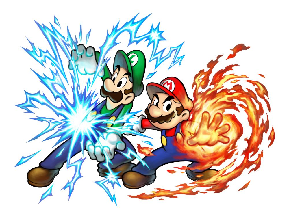 Mario & Luigi Remake Hand Powers Artwork