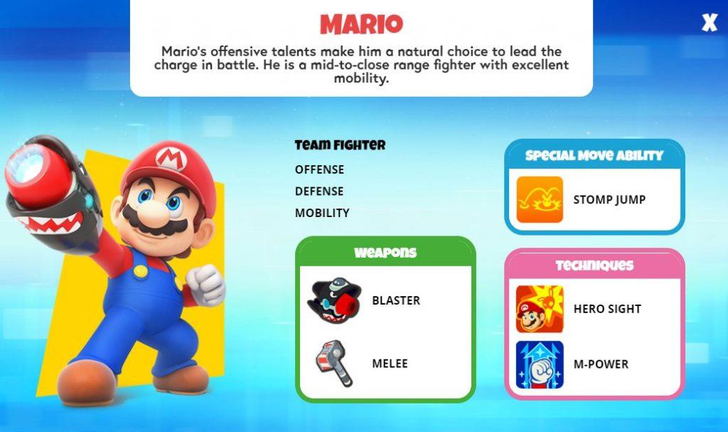 Mario Character Sheet
