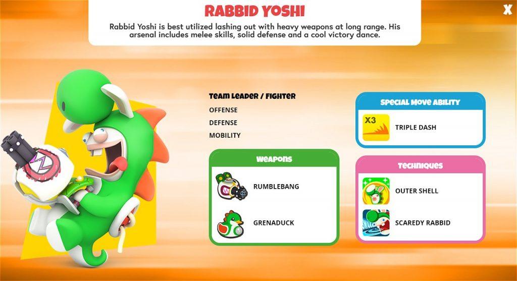 Rabbid Yoshi Character Sheet