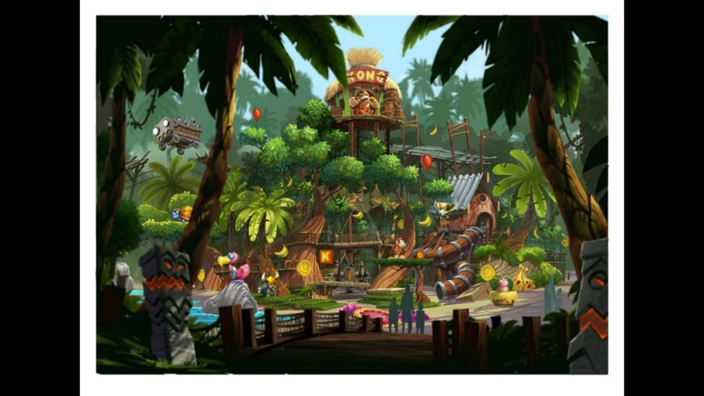 Donkey Kong Country Treehouse concept at SNW