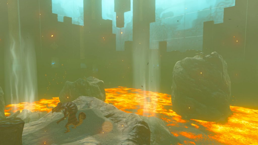 A lava room in Trial of the Sword