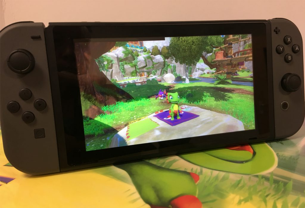 Yooka-Laylee running on Nintendo Switch