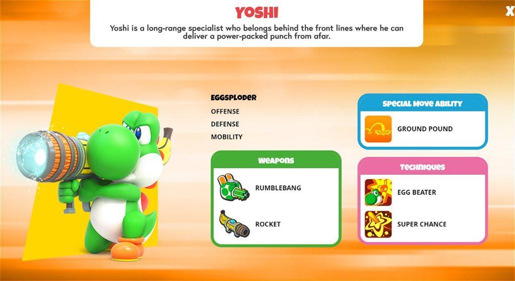 Yoshi Character Sheet