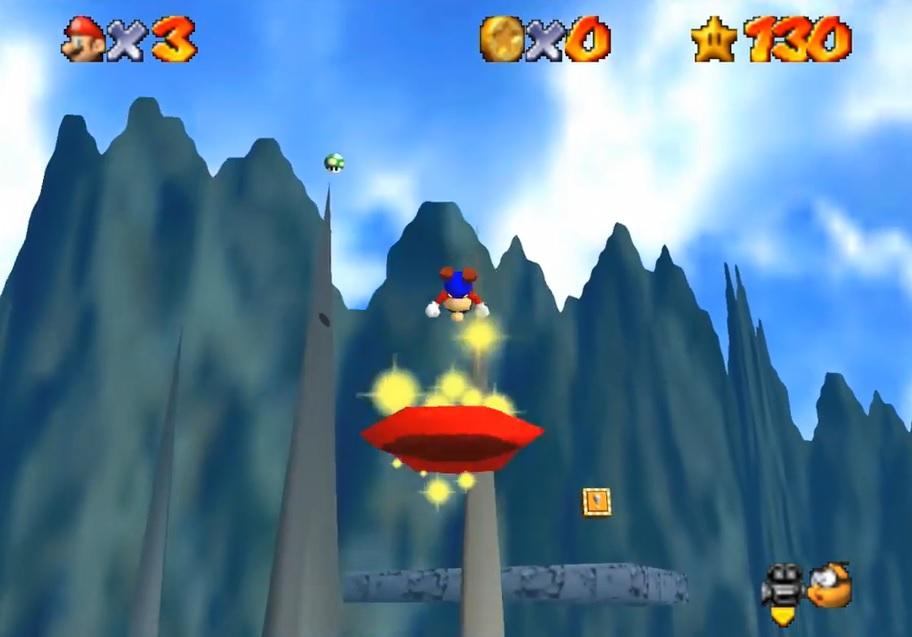 Mario Odyssey 64 Hat Bouncing