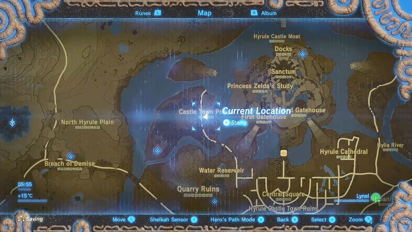 Tingle's Shirt Map Location