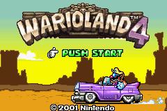 Wario Land 4 Title Screen
