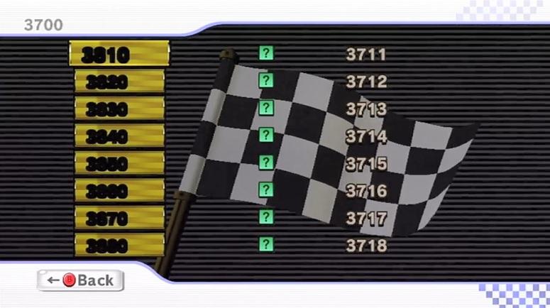 Beta Mario Kart Wii Mission Mode Menu