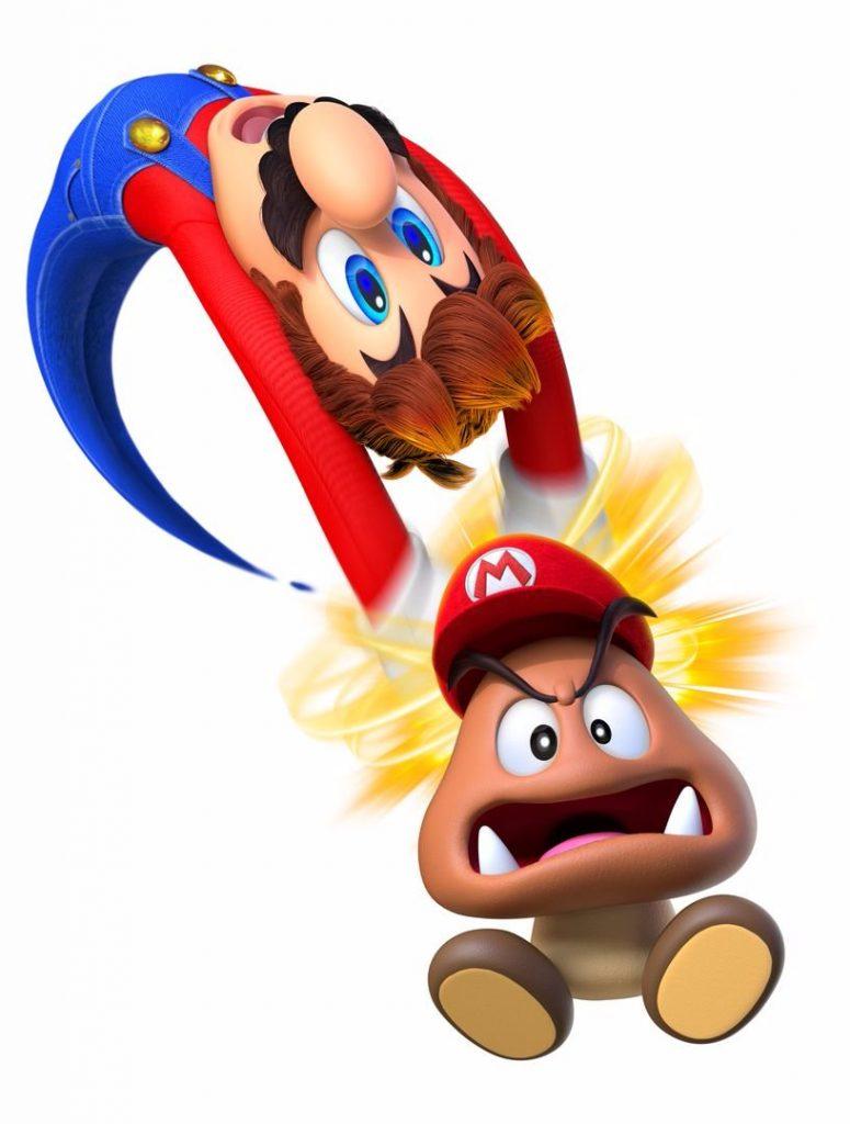 Mario capturing a Goomba