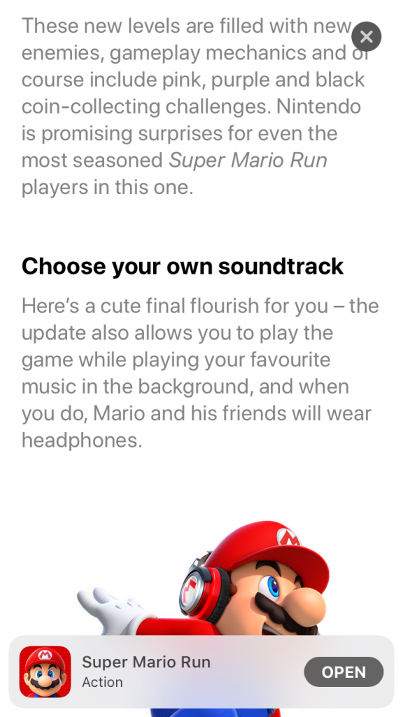 Super Mario Run Update 5