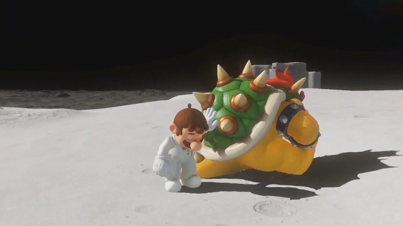 Depressed Bowser and Mario