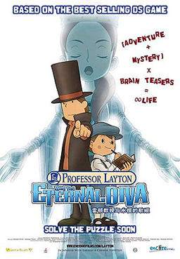 Professor Layton and the Eternal Diva Poster