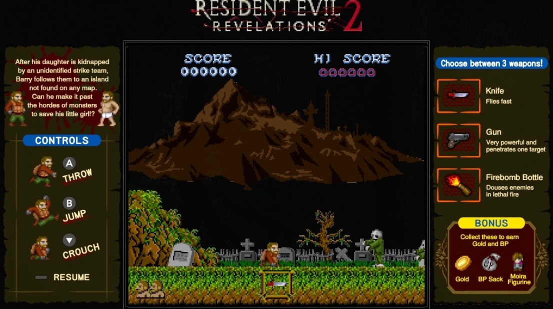 Resident Evil Revelations 2 Mini Game