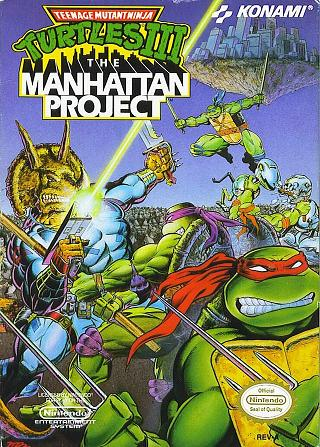 Teenage Mutant Ninja Turtles 3: The Manhatten Project NES Box