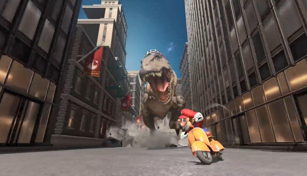 Mario T Rex Chase