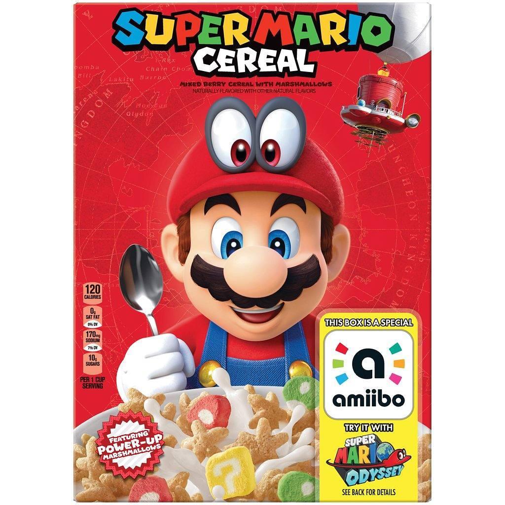 Super Mario Odyssey Cereal