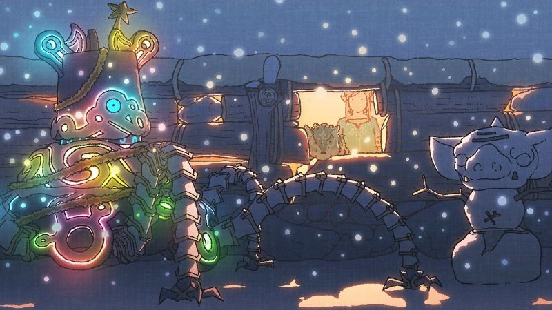 BotW Christmas Artwork