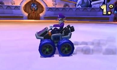 Waluigi Mario Kart 7 Mod