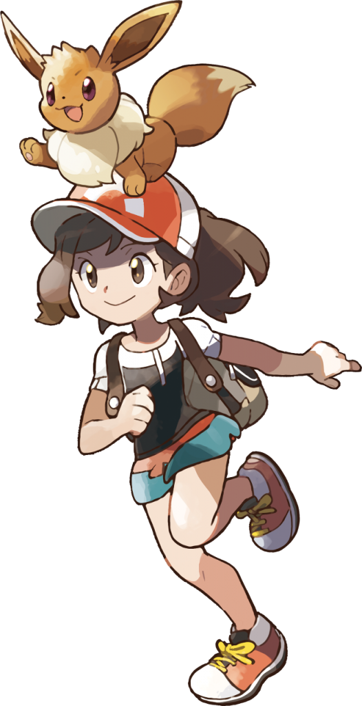 Let's Go Pikachu Female Trainer Artwork